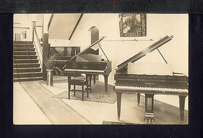 1920 CHICKERING PIANOS IN SHOWROOM Real Photo Postcard RPPC