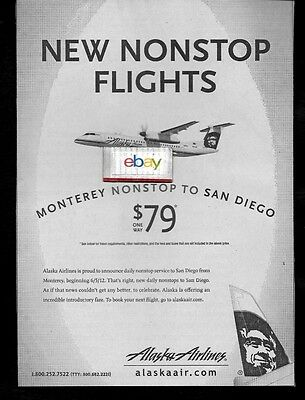 Alaska Airlines New Service From Monterey-San Diego Nonstop Bombardier Q-400 Ad