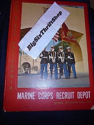 US Marine Corps RECRUIT DEPOT MCRD San Diego 1962 Yearbook 229 Boot camp Platoon