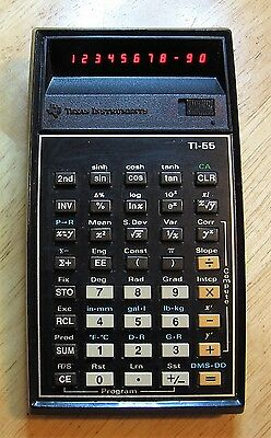 Vintage Texas Instruments TI-55 calculator (1981) ++ TESTED ++ red LEDs
