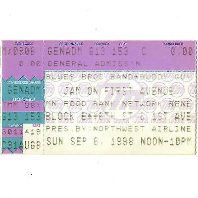 BUDDY GUY & BLUES BROTHERS BAND STAX Concert Ticket Stub 9/6/98 MINNEAPOLIS MN
