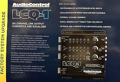 NEW Audio Control LCQ1, 6-Channel OEM Integration Line Out Converter EQ (Gray)