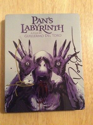 SIGNED x2 Mondo Steelbook Pan's Labyrinth Doug Jones, Artist Jock