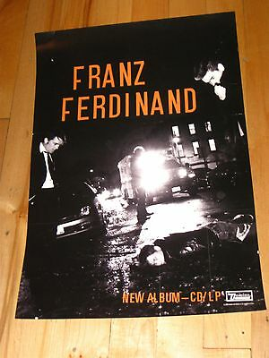 Tonight: Franz Ferdinand store promo double-sided poster vintage 2000s used #2