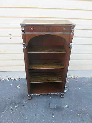 57576 Antique Mahogany Bookcase Curio with Drawer