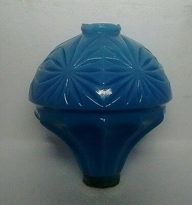 Blue Hawkeye Glass Lightning Rod Ball Barn Garden Roof Patio Home Decor