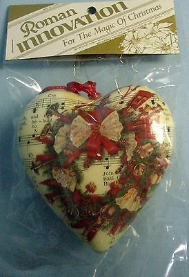 "Roman Inc. Innovations ""Christmas Heart"" Ornament . NIP . # 623475"