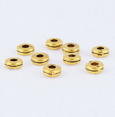 Charm Gaskets Brass Spacer Beads Metal Round Ring Jewelry Making Finding 6.5mm