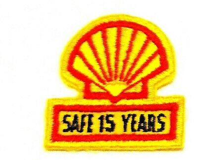 """Shell Gas Patch Embroidered Herald Oil Safe 15 years 2-1/4"""""""