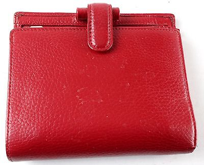 FILOFAX Red Leather Pocket Finsbury Address Book