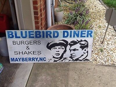 The Andy Griffith Show Metal Sign Prop Mayberry NC Barney Bluebird Diner Shakes