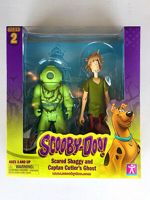 Scared Shaggy And Captain Cutler's Ghost - Scooby Doo Series 2 - Mint!!!