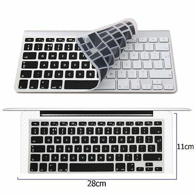 "New BLACK Silicone Keyboard Cover Skin for Apple Macbook Pro MAC 13"" 15"" 17"" UK"