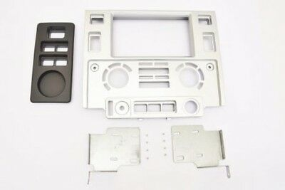 PANEL installation set Double 2 DIN Land Rover Defender TD4 60° in Silver