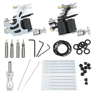Professional Mini Tattoo Kit Liner 1 Machine Guns 20 Needle Power Supply Set