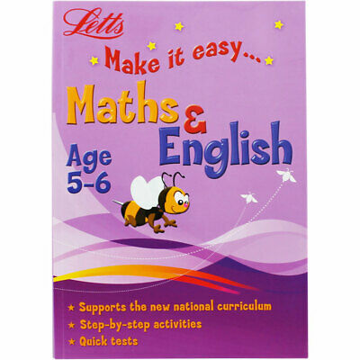 Letts Maths and English - Age 5-6 (Paperback), Children's Books, Brand New