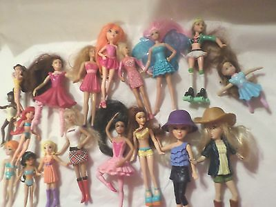 Lot Of 18 Small Dolls Barbies  Misc Ballerinas All Kinds Of Fun