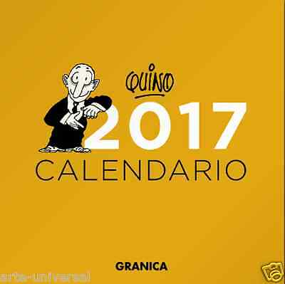 CALENDARIO DE PARED QUINO 2017 SPANISH ESPAÑOL NEW WALL CALENDAR Mafalda Author
