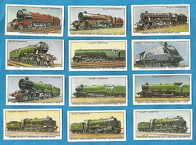 Wills cigarette cards - RAILWAY ENGINES 1936 - Full mint condition set