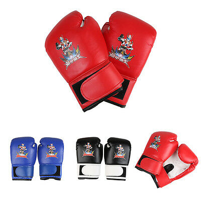 Kids PU Leather MMA UFC Grappling Gloves Fight kick Boxing Punch Bag Training