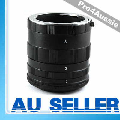 New Adjustable Length Macro Extension Tube Mount Ring Set FOR canon eos ef dslr