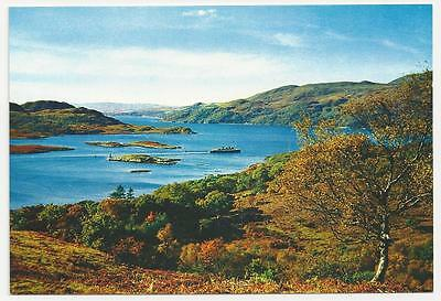 J Arthur Dixon Postcard, The Kyles of Bute with Clyde Pleasure Steamer
