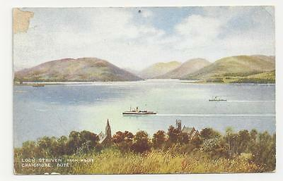 Valentine's 'Art Colour' Loch Striven from above Craigmore, Bute, 1941