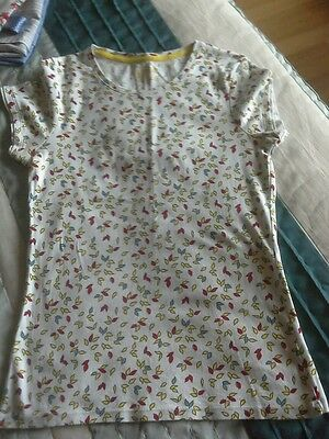 Ladies White T.shirt With Print Detail Size 14