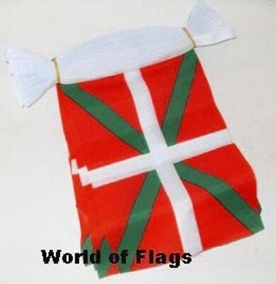 BASQUE BUNTING Spain Spanish 9m 30 Polyester Fabric Flag Party Flags