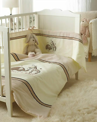 3 Piece Baby Bedding Cot Set - Elli And & Raff - Bumper/quilt/fitted Sheet -Gift