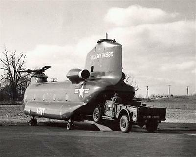 1950s MR US Army YHC-1B Chinook Helicopter Test Bed 94985 8x10 Photo #1