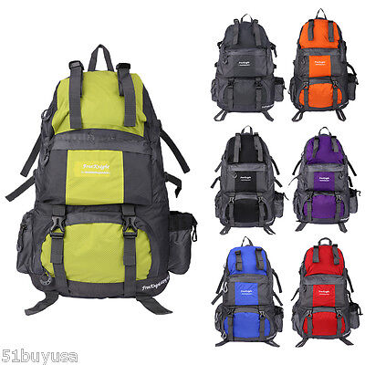 50L Outdoor Mountaineering Camping Bag Backpack Hiking Traveling Rucksack Pack