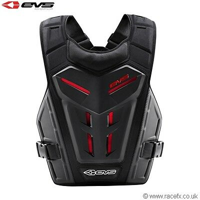 EVS Adult Revo 4 Chest Body Armour Motocross Enduro Neck Brace Compatible Black