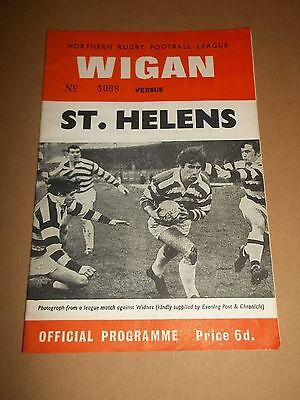 Wigan V St Helens Rugby League Programme 1969