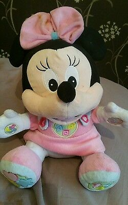 talking minnie mouse teddy toy