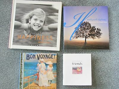 Friendship, Happiness, Travel Gift Books x 4 - Gr Cond