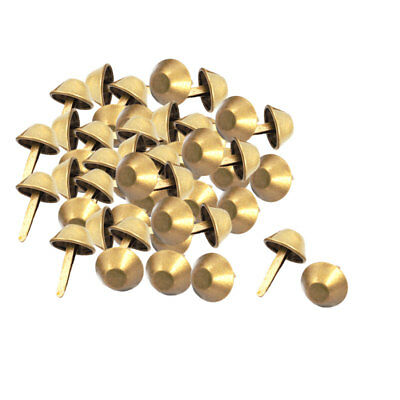 Metal Retro Bucket Shaped Purse Shoes Rivets Studs Bronze Tone 15mm Dia 50 PCS