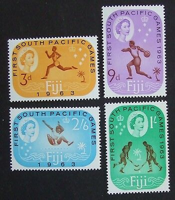 Set of 1963 Fiji mint unmounted stamps 1st South Pacific Games