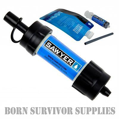 Genuine SAWYER MINI WATER FILTER KIT - Filtration Survival Purification Straw