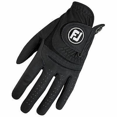 Footjoy Mens Weathersof Left Hand Golf Glove - New Fj Logo Leather Right Handed