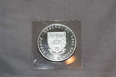 Arsenal FC Rare Old Vintage Double Cup Winners 1993 Crest Badge Medal AFC Gift