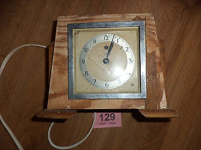 Art Deco clock for spares Temco electric mantle clock