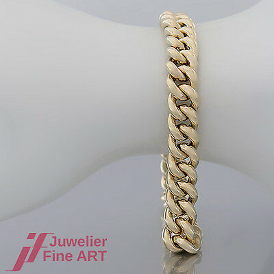 Armband - Panzer-Miuster in 14K/585 Gelbgold - ca. 20,5 cm lang - poliert