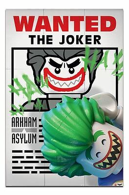 Lego Batman Wanted The Joker Poster New - Maxi Size 36 x 24 Inch