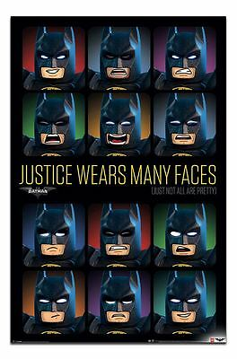 Lego Batman Justice Wears Many Faces Poster New - Maxi Size 36 x 24 Inch