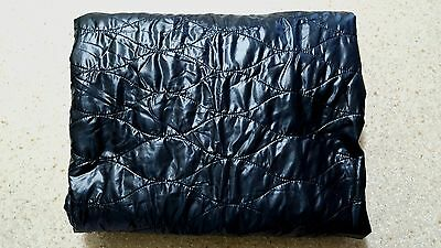 Black Quilted light weight Jacket  fabric Remnant  145cm x 128cm fabric cut *