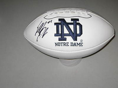 Everett Golson Signed Notre Dame QB Fighting Irish Logo Football PROOF Playmaker