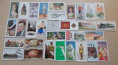 cigarette cards VINTAGE MIX  OF 60 ASSORTED CARDS - INTERESTING LOT 96