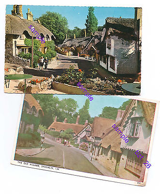 Isle Of Wight 1960  X 2 P/cards Old Shanklin Village=Lovely Condition