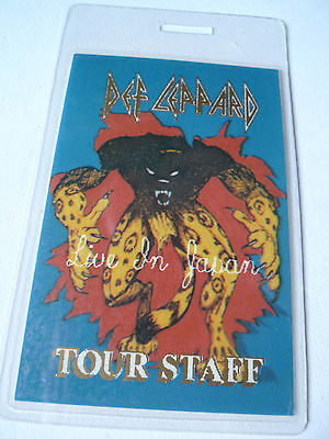 DEF LEPPARD Tour Staff Access All Areas Laminated Backstage Pass